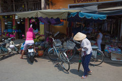 Life of vietnamese vendor in Hoi An Royalty Free Stock Images