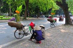 Life of Vietnamese vendors in Saigon Stock Image