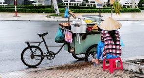 Life of Vietnamese vendors in Saigon Royalty Free Stock Photography