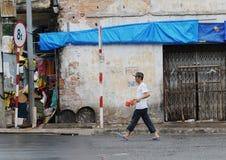 Life of Vietnamese vendors in Saigon Stock Photos