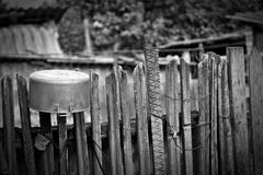 Life in the village: all around the shaky , simple and old Royalty Free Stock Photo