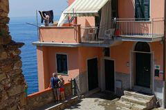 Life in a village of the Cinque Terre Royalty Free Stock Image