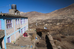 The daily life of villagers Muktinath Royalty Free Stock Images