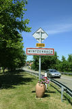 LIFE IN WINTZENBACH VILLAGE ALSACE REGION Of FRANCE Royalty Free Stock Photography
