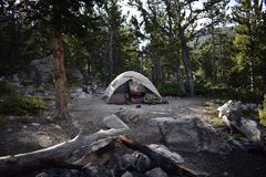 Life in the woods, camping style Royalty Free Stock Photography