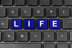 Life word on keyboard Stock Photos