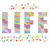 Life word. Vector graphic illustration design art Royalty Free Stock Images