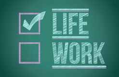 Life and work choices Royalty Free Stock Photos