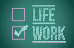 Life and work choices Royalty Free Stock Images