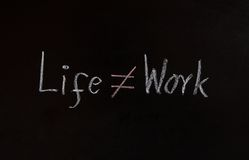 Life and work concept Stock Photo