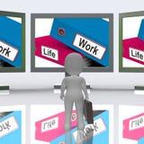 Life Work Folders Mean Balance Of Career 3d Rendering royalty free illustration