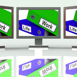 Life Work Folders Mean Balance Of Career And Leisure vector illustration