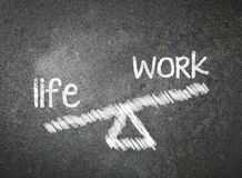 Life and work of your choice written with white chalk on a black Stock Images