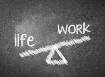 Life and work of your choice written with white chalk on a black Royalty Free Stock Image