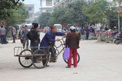 Street scene in Xingping, China Royalty Free Stock Photography