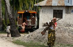 Daily life, Zanzibar Royalty Free Stock Images