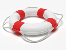 Lifebelt. A computer generated image of a lifebelt over a white background Royalty Free Stock Images