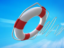 Lifebelt. Classic lifebelt over blue sky Royalty Free Stock Photos
