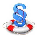 Lifebelt Blue Paragraph Stethoscope Stock Images