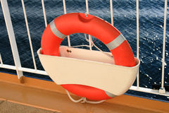 Lifebelt on cruise ship Royalty Free Stock Image