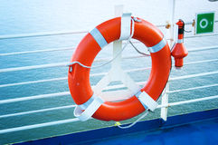 Lifebelt on ferry Stock Image