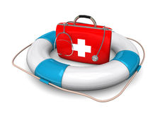 Lifebelt First Aid Case Royalty Free Stock Images