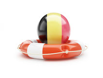 Lifebelt with German flag 3D illustration Royalty Free Stock Photography