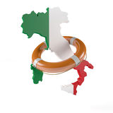 Lifebelt for Italy Stock Photo
