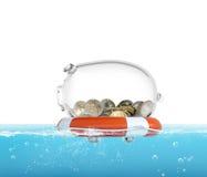 Lifebelt for money 3d rendering Royalty Free Stock Photo