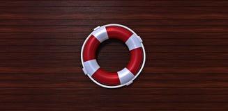 Lifebelt na drewnianej podłoga Zdjęcia Royalty Free