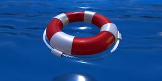 Lifebelt na wodzie Obraz Stock