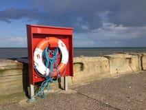 Lifebelt on the pier Stock Photo