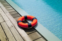 Lifebelt at the pool Stock Images