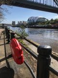 Lifebelt. On the quayside Newcastle Tyne and Wear Stock Photography