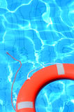 Lifebelt in swimming pool Royalty Free Stock Photography