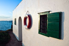 lifebelt wisząca ściana Zdjęcie Royalty Free