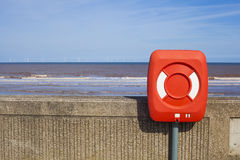 Lifebelt on Withernsea sea front Stock Photo