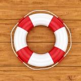 Lifebelt on wooden background Stock Image
