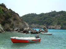 Lifeboat. At Paleokastritsa, Corfu Royalty Free Stock Photos