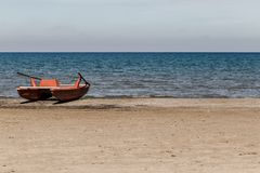 A Lifeboat On The Beach Royalty Free Stock Photography