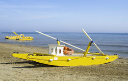 Lifeboat on the beach Royalty Free Stock Image