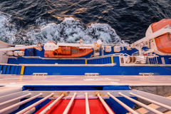 Lifeboat of the Cargo passenger ferry Stock Photography