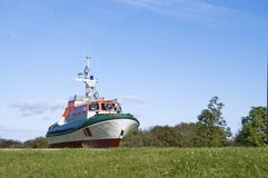 Lifeboat in countryside Royalty Free Stock Image