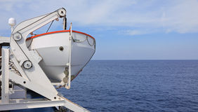 Lifeboat on cruise ship Stock Images