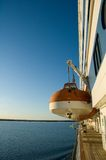 Lifeboat on a cruise ship royalty free stock photography