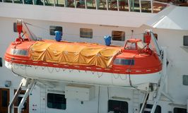 Lifeboat on cruise ship Stock Photography