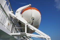 Lifeboat on cruise Stock Image