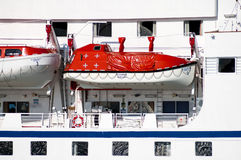 Lifeboat of cruise ship Royalty Free Stock Photography