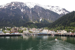 Lifeboat Cruising Into Juneau Alaska Stock Photos