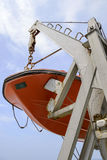 Lifeboat on deck of a cruise ship Royalty Free Stock Photos